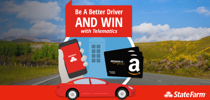 WIN with State Farm® Canada and Telematics #BeABetterDriver